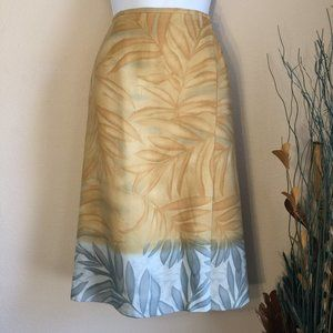 Sigrid Olsen Silk faux wrap floral skirt 12